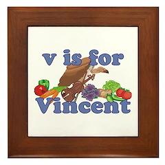 V is for Vincent Framed Tile