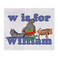 W is for William Throw Blanket