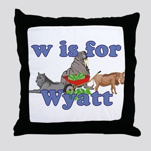 W is for Wyatt Throw Pillow
