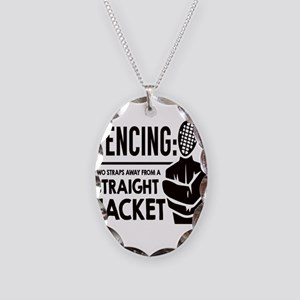 Fencing: Two Straps Away From Necklace Oval Charm