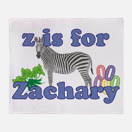 Z is for Zachary Throw Blanket