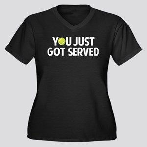You just got served-Tennis Women's Plus Size V-Nec