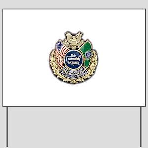 Border Patrol Honor Guard Yard Sign