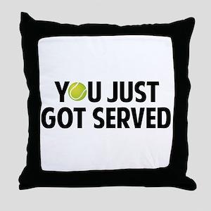You just got served-Tennis Throw Pillow