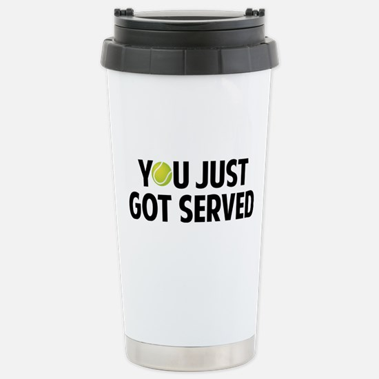 You just got served-Tennis Stainless Steel Travel