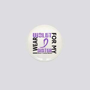 I Wear Violet 46 Hodgkin's Lymphoma Mini Button