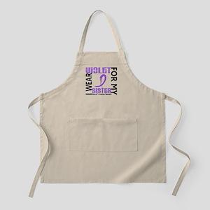 I Wear Violet 46 Hodgkin's Lymphoma Apron