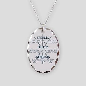 Epeeists - Foilists - Saberist Necklace Oval Charm