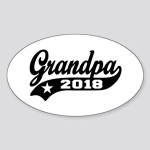 Grandpa 2018 Sticker (Oval)