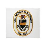 USS ARTHUR W. RADFORD Throw Blanket