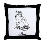 Mustang Horse white Throw Pillow