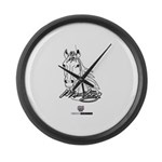 Mustang Horse white Large Wall Clock