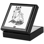 Mustang Horse white Keepsake Box