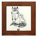 Mustang Horse white Framed Tile