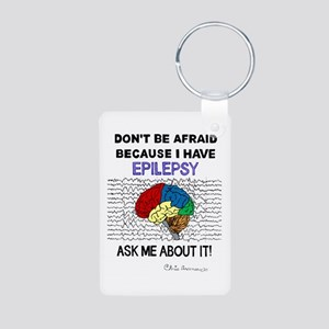 ASK ME ABOUT IT Aluminum Photo Keychain