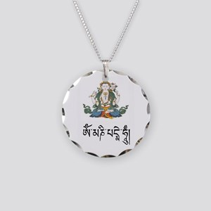 Chenrizig charm necklace