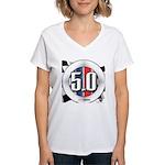 5.0 50 RWB Women's V-Neck T-Shirt