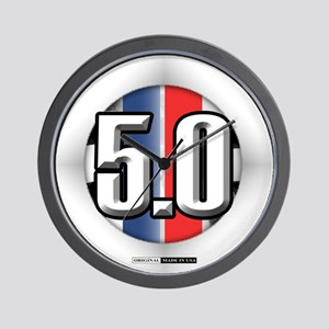 5.0 50 RWB Wall Clock