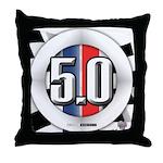 5.0 50 RWB Throw Pillow
