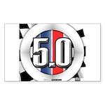 5.0 50 RWB Sticker (Rectangle 50 pk)
