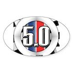 5.0 50 RWB Sticker (Oval 50 pk)