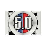 5.0 50 RWB Rectangle Magnet (100 pack)