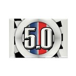 5.0 50 RWB Rectangle Magnet (10 pack)
