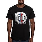 5.0 50 RWB Men's Fitted T-Shirt (dark)