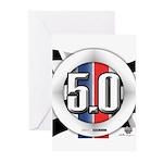 5.0 50 RWB Greeting Cards (Pk of 10)