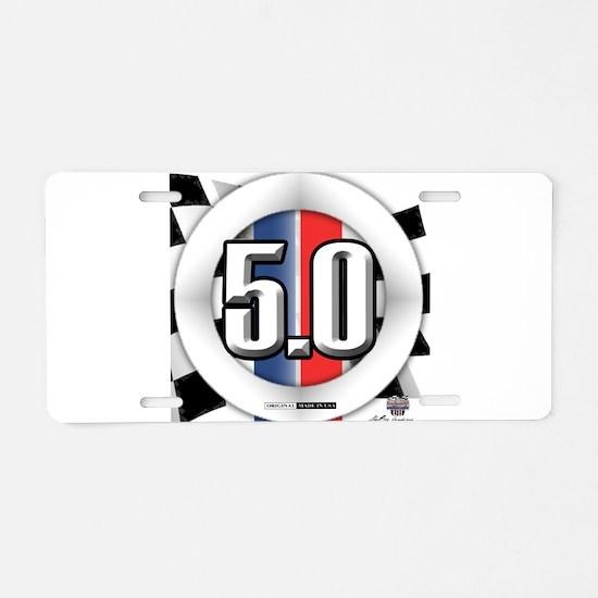 5.0 50 RWB Aluminum License Plate