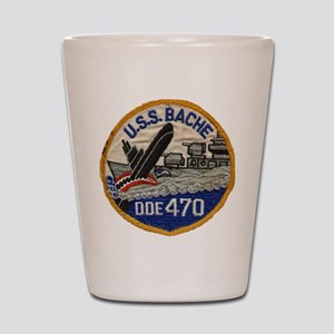 USS BACHE Shot Glass