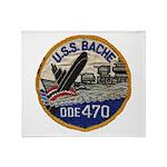 USS BACHE Throw Blanket