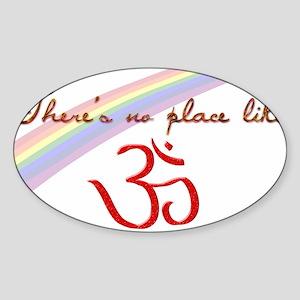 No Place Like Om Sticker (Oval)