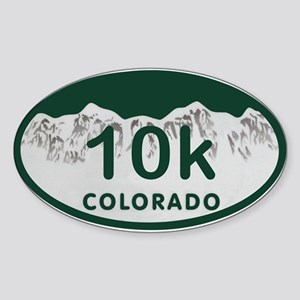 10K Colo License Plate Sticker (Oval)