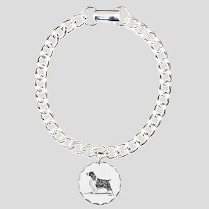 English Springer Spaniel Charm Bracelet, One Charm