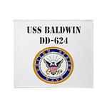 USS BALDWIN Throw Blanket