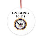 USS BALDWIN Ornament (Round)