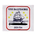 USS BALTIMORE Throw Blanket
