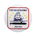 USS BALTIMORE Ornament (Round)