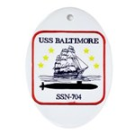 USS BALTIMORE Ornament (Oval)