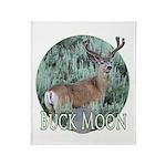 Buck moon Throw Blanket