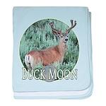 Buck moon baby blanket