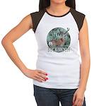 Buck moon Women's Cap Sleeve T-Shirt