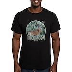 Buck moon Men's Fitted T-Shirt (dark)