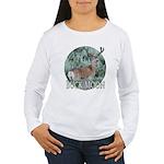 Buck moon Women's Long Sleeve T-Shirt