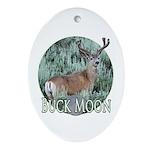 Buck moon Ornament (Oval)