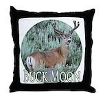 Buck moon Throw Pillow