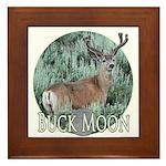 Buck moon Framed Tile