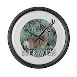 Buck moon Large Wall Clock