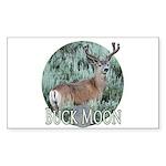 Buck moon Sticker (Rectangle)